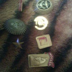Badges, badges, emblems.