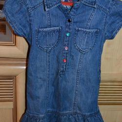 Τζιν φόρεμα για 3-5 χρόνια