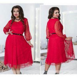 Kırmızı şık elbise 52