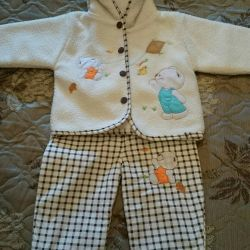 Children's costume for autumn-spring, jacket and pants