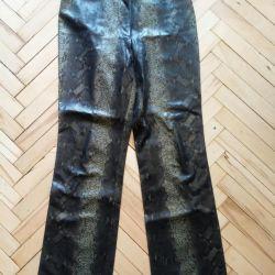 Pantaloni cu piele de șarpe r. M
