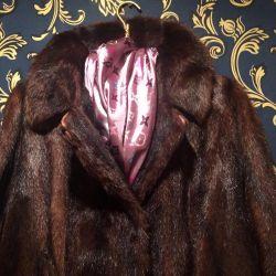Fur coat nature fur