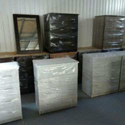 Dressers new from a warehouse
