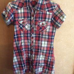 Νέο πουκάμισο, 100% βαμβάκι, Ινδία, μοντέλο 2018