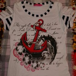 T-shirt with a marine theme, 104 height.