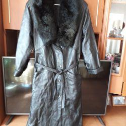 пальто коженое натуральное, туретское новое 50/52