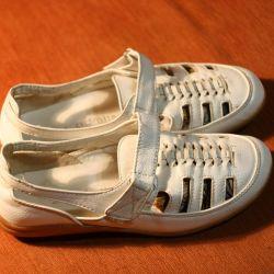 Ботинки летние белые сандилии