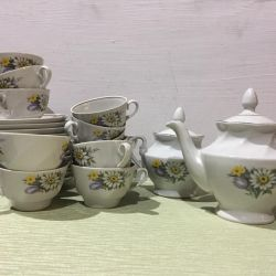 Фарфоровый чайный сервиз клеймо Рига