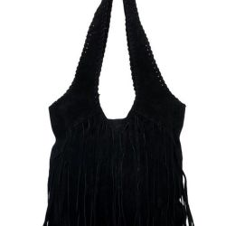New suede bag with fringe OBJECT