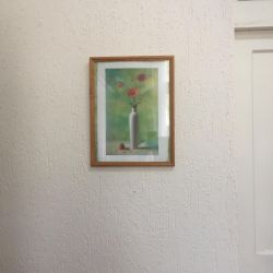 Picture framed 42x32 cm poppies
