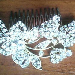 Hairpin for wedding hairstyle.