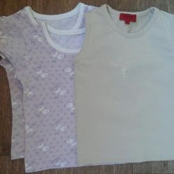 T-shirts for a girl solution 110-116
