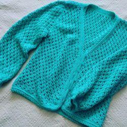 new crocheted cardigan 48-50р