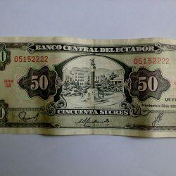 Banknot Ekvador 50 başarılı