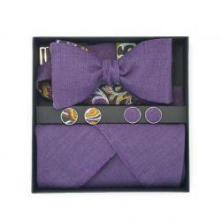 Set (bow tie, scarf, cufflinks)