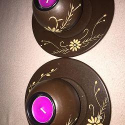 Подсвечники для маленьких свечек
