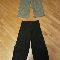 Bir çift kalça standart pantolon 34r.