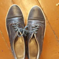 Δερμάτινα πάνινα παπούτσια 37 r