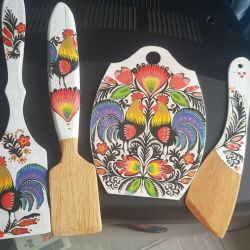 Set of wooden spatulas for the kitchen