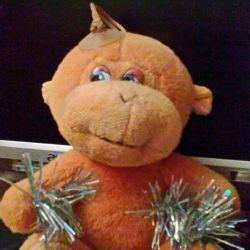 М'яка іграшка - мавпочка на присоску