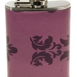 The flask is souvenir, lilac color, small