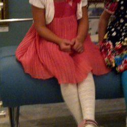Elbise zarif ipek + pileli 3.5-5l, 98-110cm