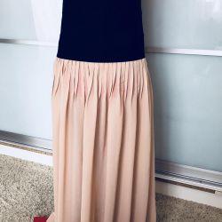 Şifon elbise - etek