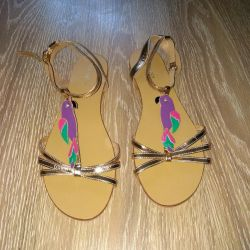 new leather sandals
