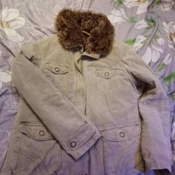 Women's jacket with fur