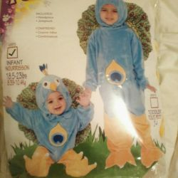 Peacock costume toddler new