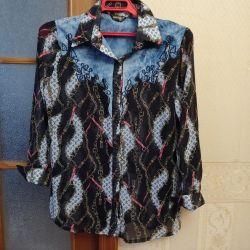 Δερμάτινο πουκάμισο σιφόν