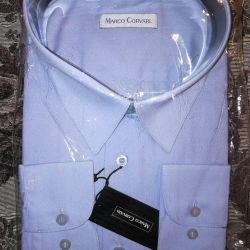 Dl ile gömlek mavi Marco Corvari. XXXL kol