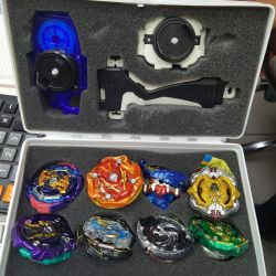 Beyblade Suitcase with Spinning Tops