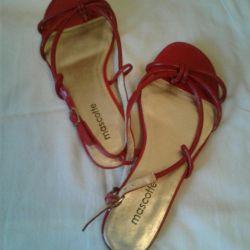 Sandalet 38 renk bordo yaz boyutu