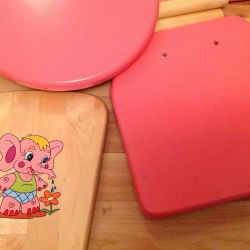 Children's table and chairs for 2-7 years
