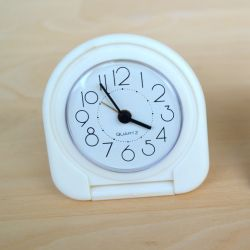 I sell a folding alarm clock.
