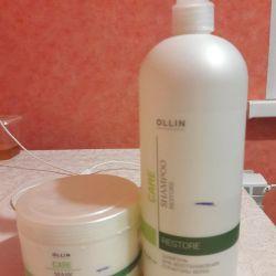 Shampoo and mask OLLIN CARE