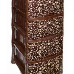 Dresser Rossplast 4 tier Elegant dark with decor