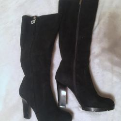 Winter boots from natures of suede