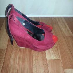 sandals on geisha natural suede 38p