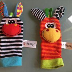 Socks / development toys 1-9 months