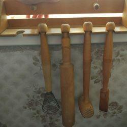 Set de ustensile din bucătărie din lemn 5
