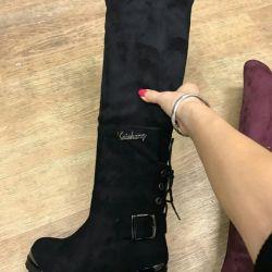 Suede μπότες για την άνοιξη