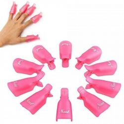 Clothespins for removing shellac gel polish new 10 pcs