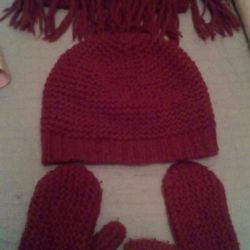 Hat gloves and OSTIN scarf