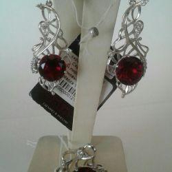 Set of ruby crystal