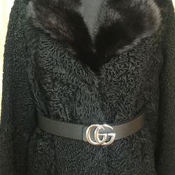 Yeni ithal Astrakhan kürk ceket özel