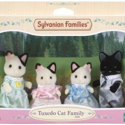New Sylvanian Families Family of black and white cats
