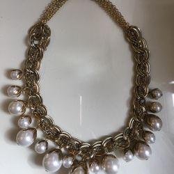 Colier mare de imitație de perle