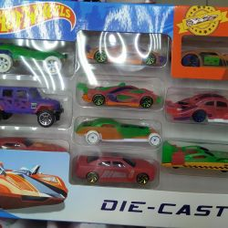 Set of cars Hot wheels (change color in water)